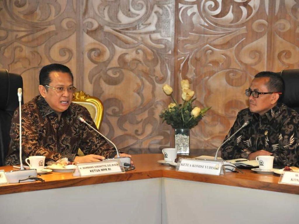 Ketua MPR Sepakat Penguatan Komisi Yudisial Guna Jaga Perilaku Hakim
