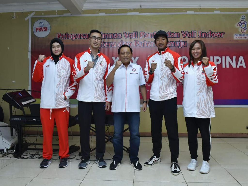 Dilepas Ketum PBVSI ke SEA Games 2019, Timnas Voli Indonesia Ditarget Emas
