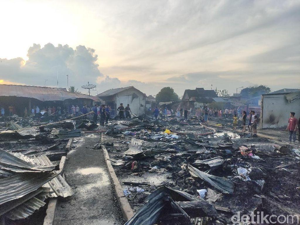 700 Kios Monza Tanjungbalai Terbakar