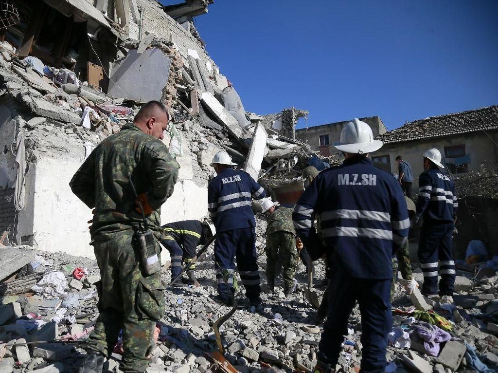 Korban Tewas Gempa Albania Jadi 14 Orang, 600 Lainnya Luka-luka