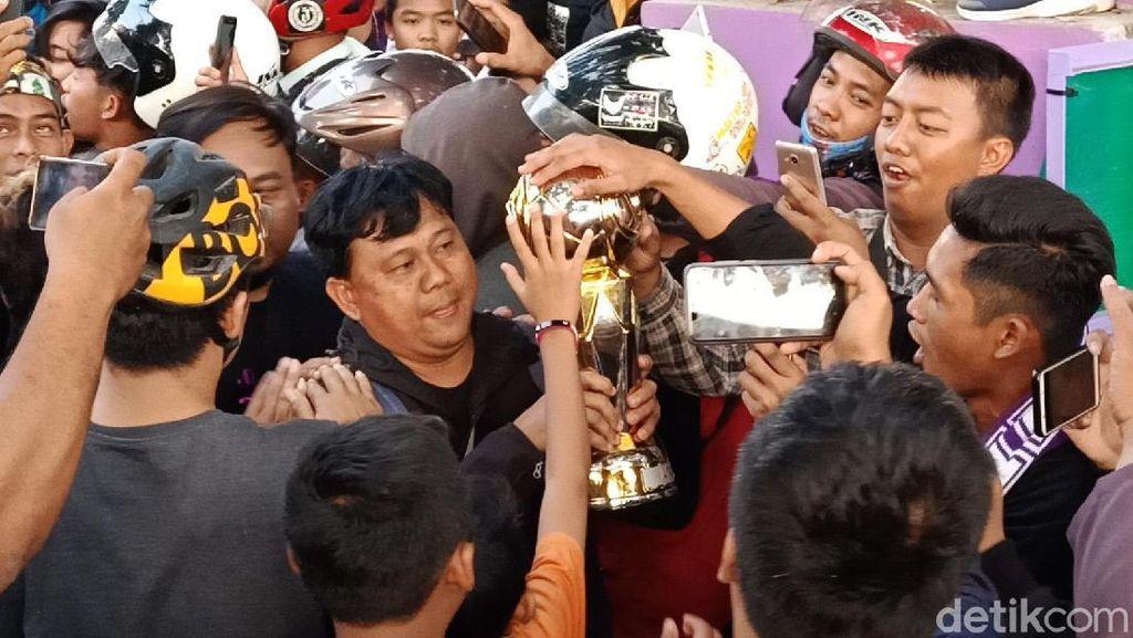 Juara Liga 2, Persik Disambut Bak Pahlawan di Kediri