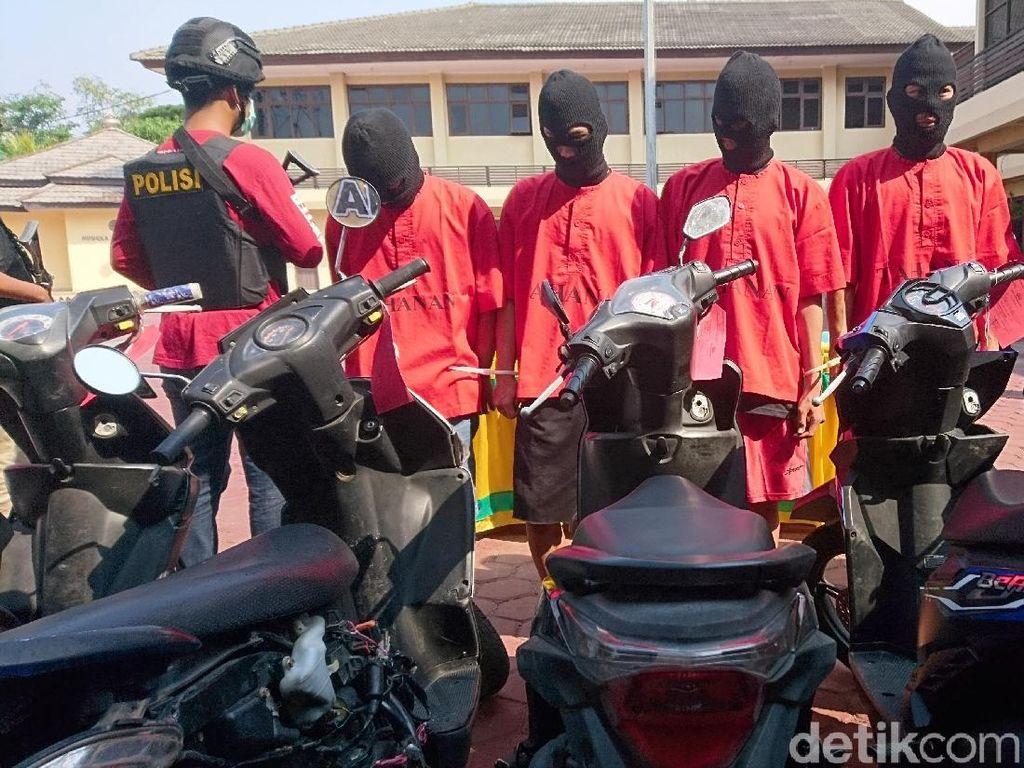 Polisi Tangkap Komplotan Curanmor Modus Dorong Motor