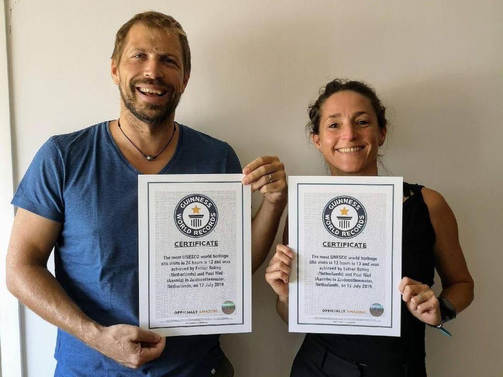 Suami Istri Pecahkan Rekor, ke 13 Situs UNESCO dalam 12 Jam