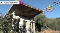 Jalan Layang di Italia Runtuh Usai Diterjang Banjir