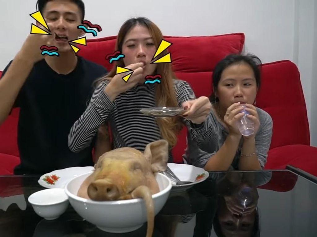 Kepala Babi sampai Otak Kelinci, 5 Makanan Ekstrem Pilihan YouTuber Indonesia