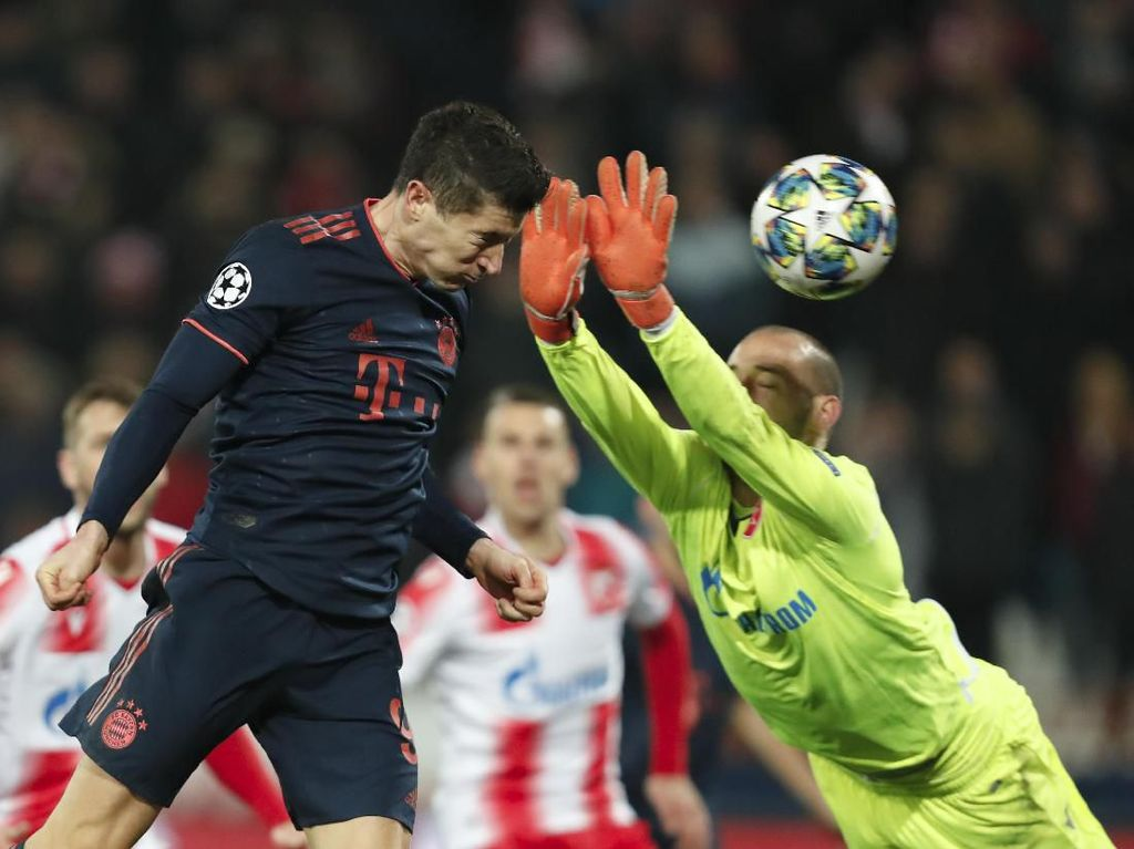 Quat-trick Lewandowski Antar Bayern Gilas Red Star 6-0