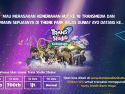 Promo Asyik Trans Studio Cibubur di Kemeriahan HUT Transmedia