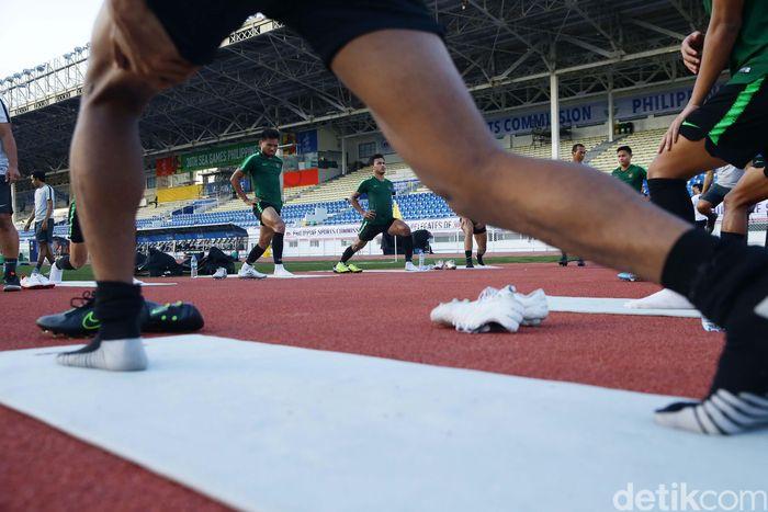 Latihan berlangsung di Rizal Memorial Stadium, Rabu (27/11/2019) pagi pukul 05.45 waktu Manila, Filipina.