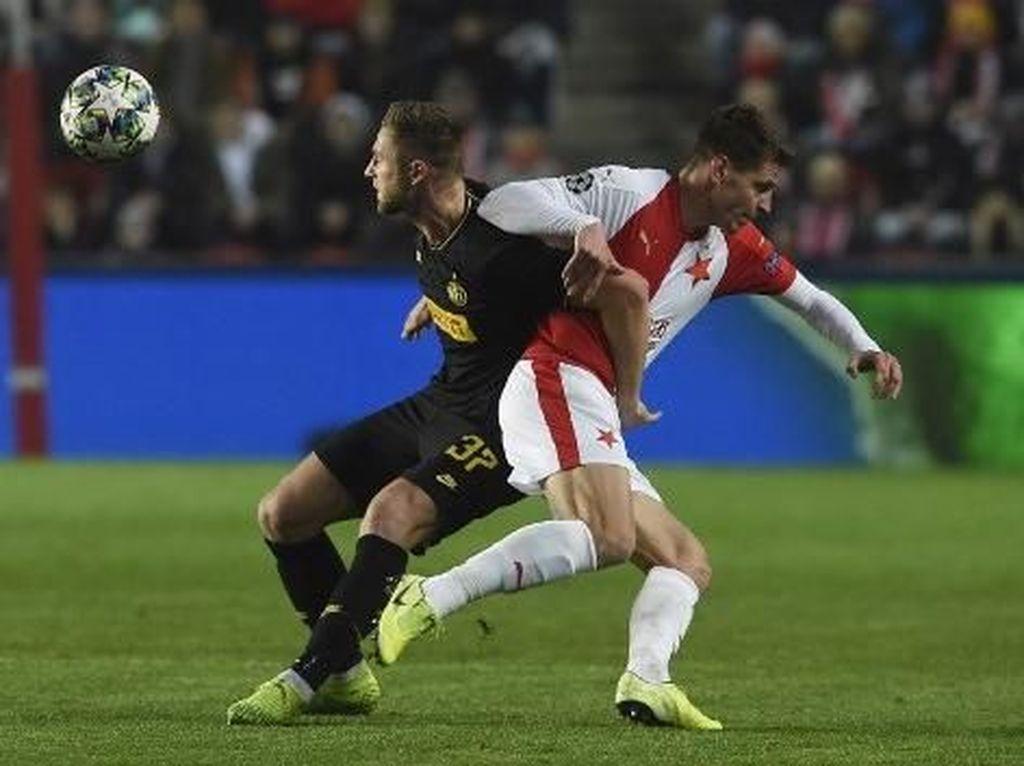 Slavia Praha Vs Inter Milan Sementara Imbang 1-1