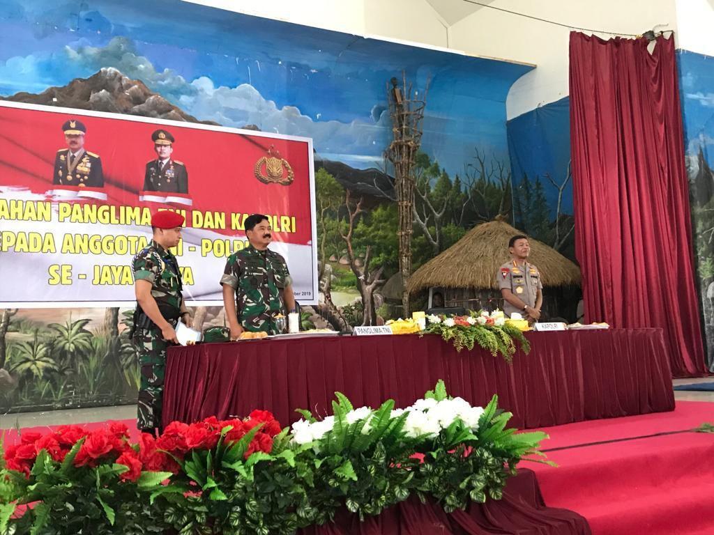 Panglima TNI dan Kapolri Beri Pengarahan di Wamena