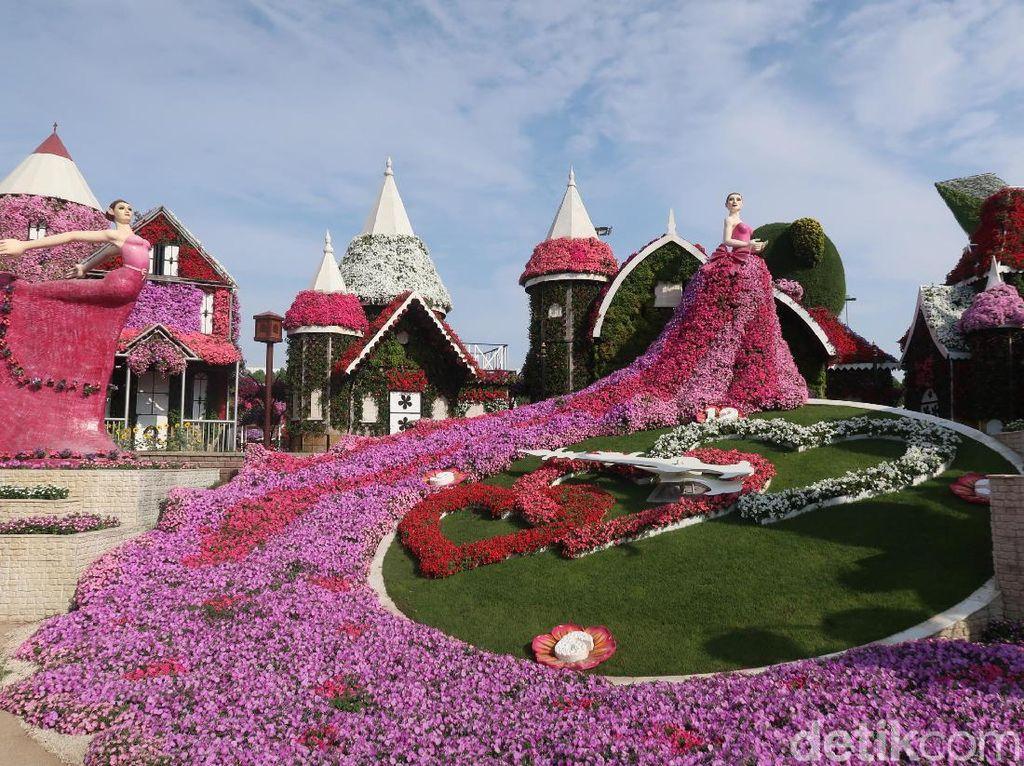 Cantiknya Taman Bunga Terbesar Sedunia di Dubai