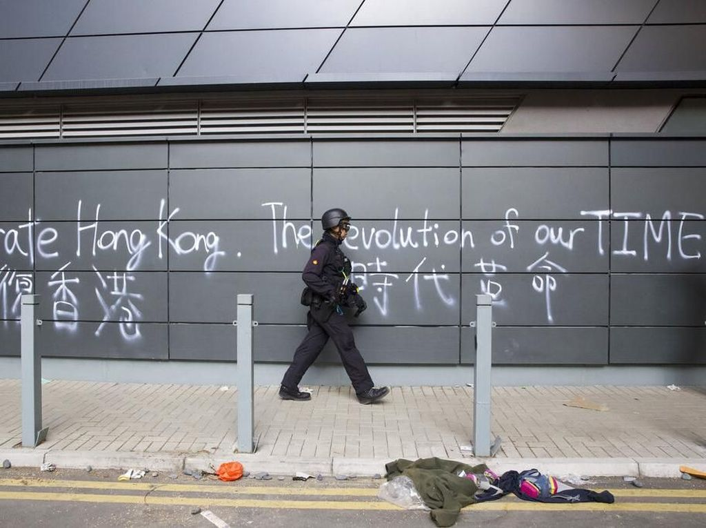 Polisi Hong Kong Bekukan Dana Unjuk Rasa Rp 123 Miliar