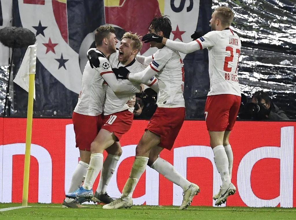 Video Momen Dramatis RB Leipzig Ciptakan 2 Gol di Akhir Laga