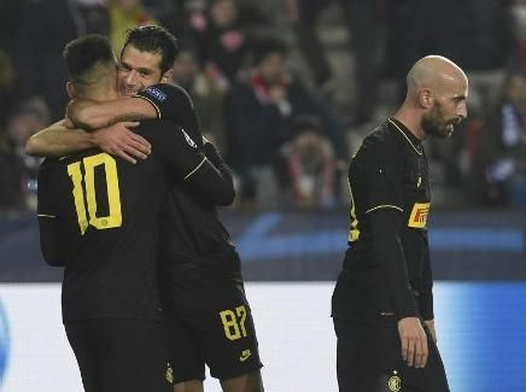 Bungkam Slavia Praha 3-1, Inter Milan Jaga Kans Lolos