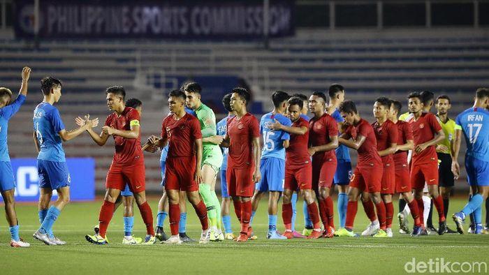Timnas Indonesia U-22 vs Timnas Brunei Darussalam U-22 di SEA Games 2019 terancam ditunda.  ( Foto: Grandyos Zafna/detikcom)