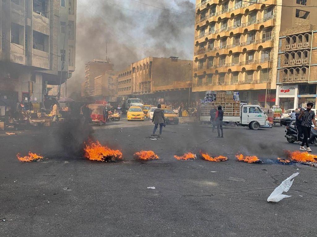Demonstran Tewas Akibat Kerusuhan Irak Bertambah Jadi 27 Orang