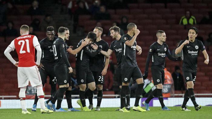 Arsenal kalah 1-2 dari Eintracht Frankfurt di matchday kelima Liga Europa. (Foto: Matt Dunham/AP Photo)