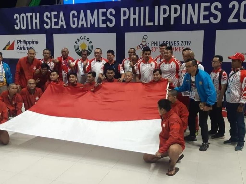 Keren! Raih Emas, Polo Air Indonesia Dobrak Hegemoni Singapura di SEA Games
