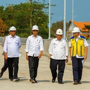 Bareng Basuki hingga Stafsus Milenial, Jokowi Tinjau Tol Akses Patimban