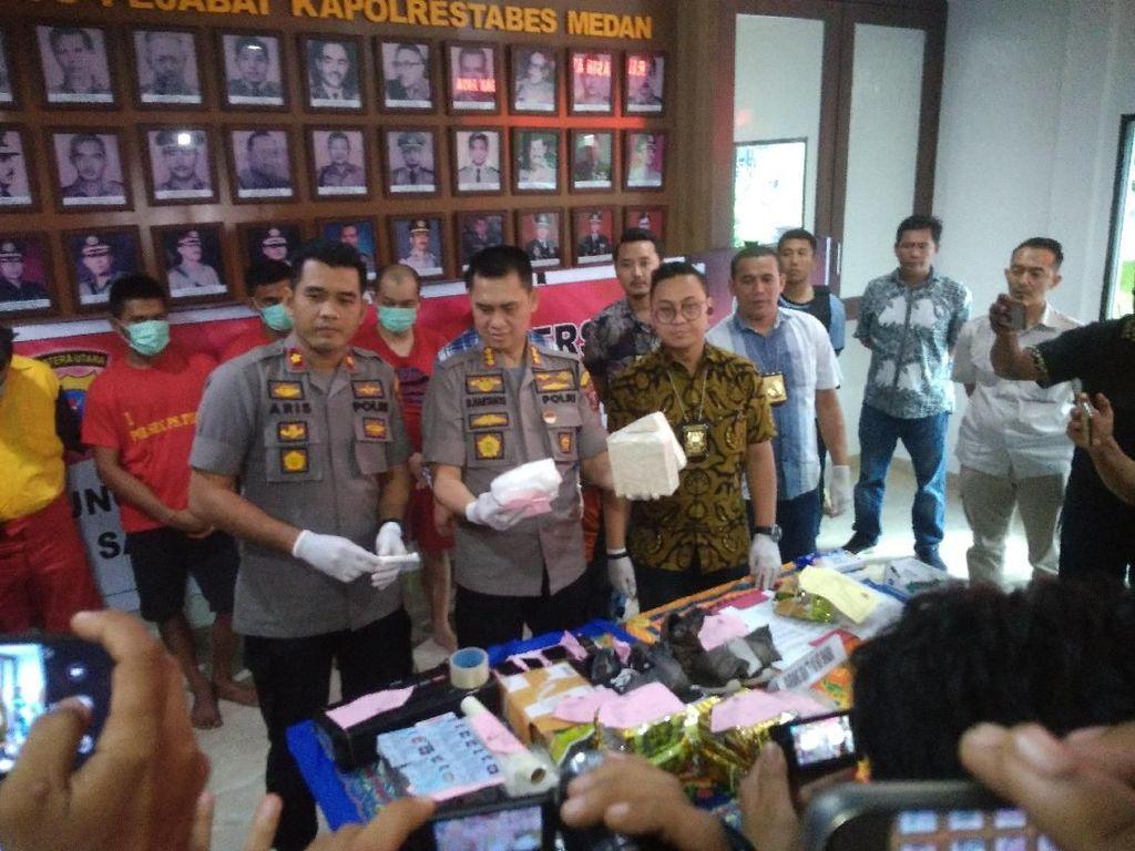 Polisi Tangkap 7 Kurir Narkoba di Medan, 1 di Antaranya WN Malaysia