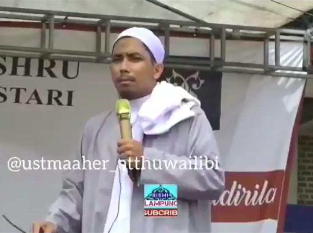 Dipolisikan, Ustaz Maaher: Saya Jelaskan Fikih Bukan Ajak Bunuh Abu Janda