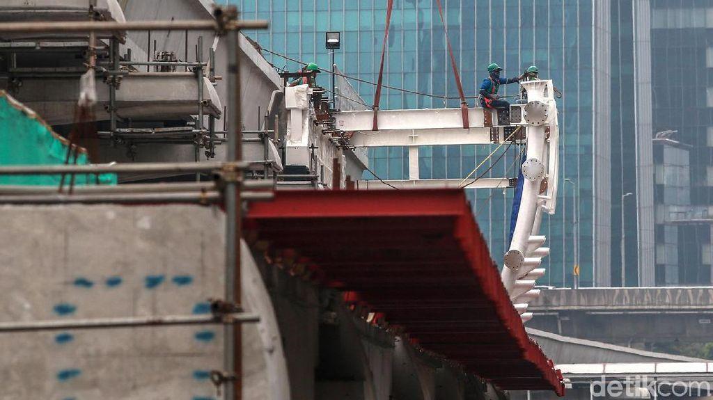 Proyek LRT Jabodebek Sentuh Angka 67%