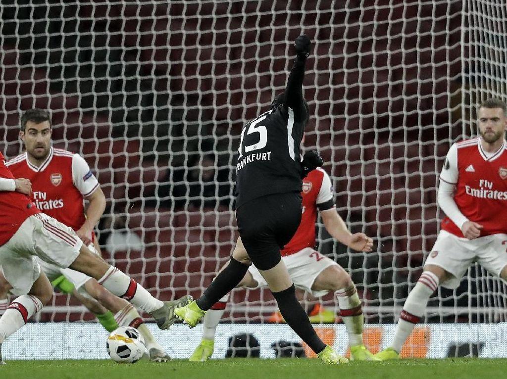 Hasil Liga Europa: Sempat Unggul, Arsenal Dibungkam Frankfurt 1-2
