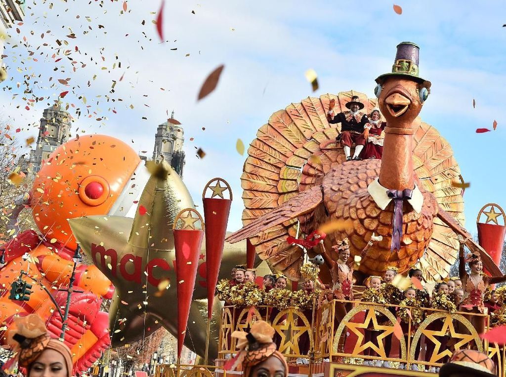 Potret Kemeriahan Parade Thanksgiving di Pusat Kota New York
