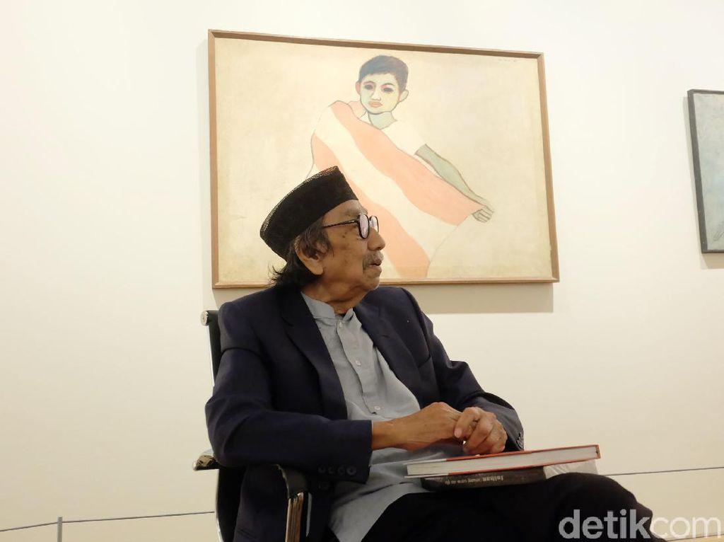 Jeihan Sukmantoro Berpulang, Apa Sih Makna Lukisan Mata Hitam?