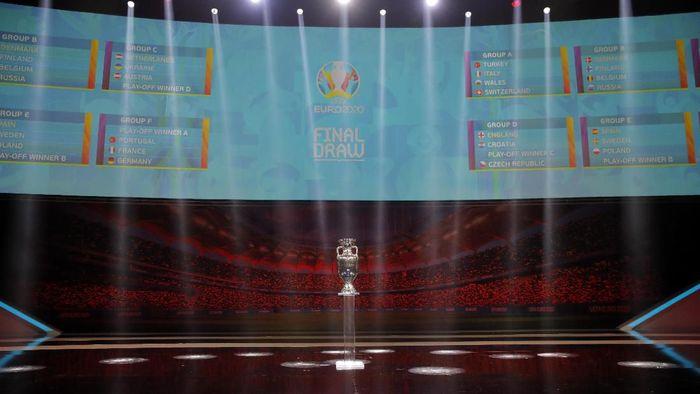 Drawing Piala Eropa 2020: Jerman, Prancis, dan Portugal Segrup (AP Photo/Vadim Ghirda)