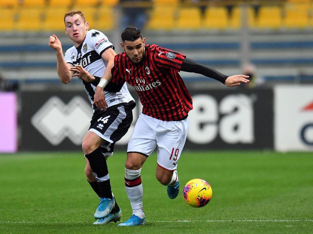Parma Vs Milan: Gol Telat Theo Hernandez Menangkan Rossoneri 1-0
