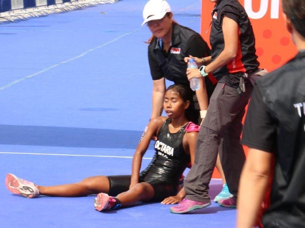 SEA Games 2019: Nathavani Octaria Jatuh-Bangun Rebut Perunggu Triathlon