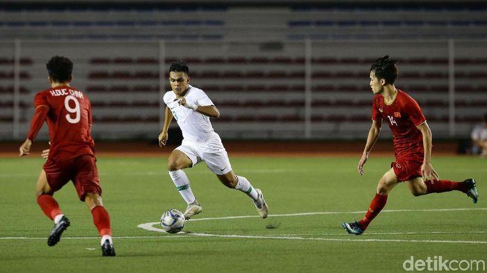 Timnas Indonesia U-22 kalah 1-2 dari Vietnam di matchday ketiga Grup B SEA Games 2019. (Foto: Grandyos Zafna/detikSport)