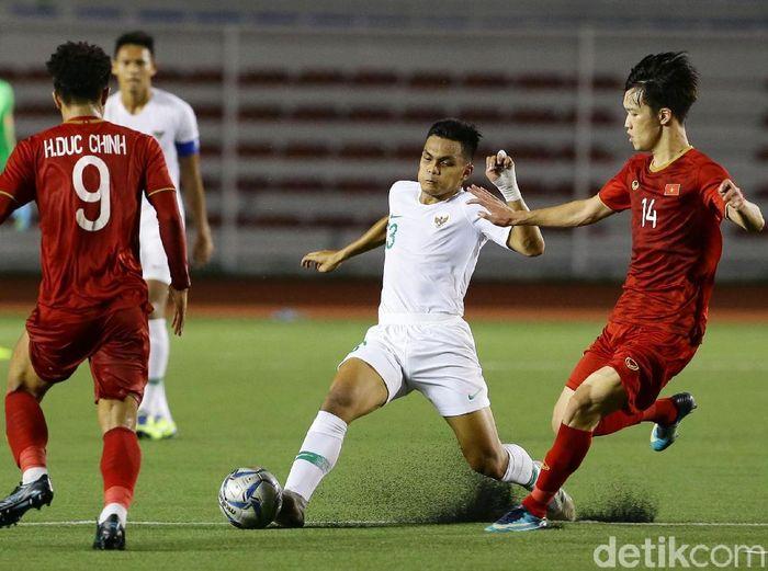 Indonesia vs Vietnam di final SEA Games 2019 diprediksi berjalan seru. (Foto: Grandyos Zafna/detikcom)