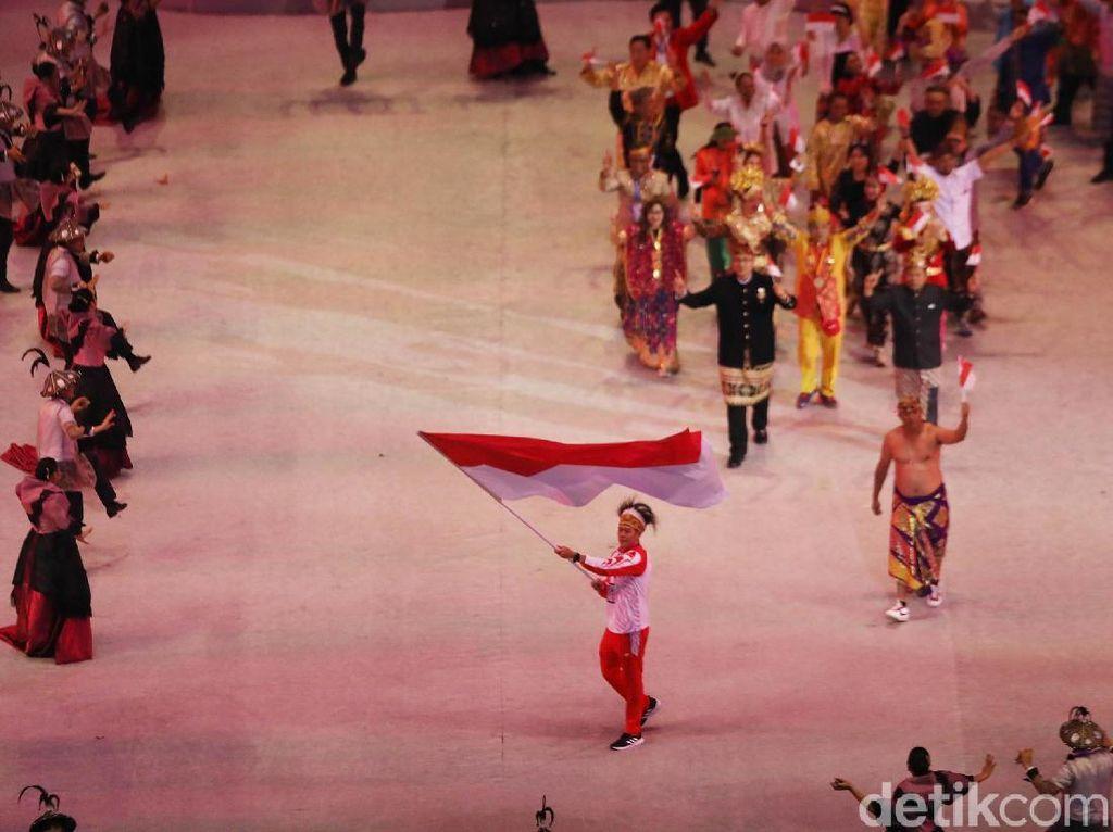 Merah Putih Berkibar di Philippine Arena
