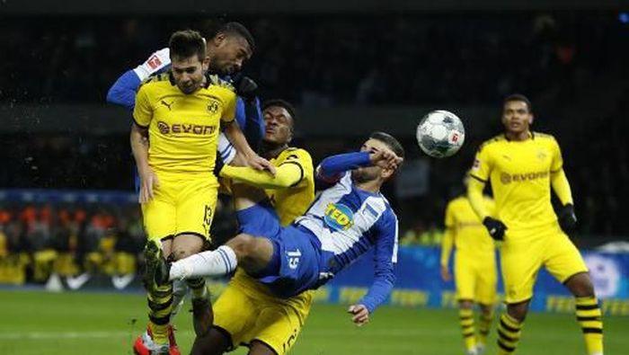 Borussia Dortmund berhasil mengalahkan Hertha Berlin (Foto: Odd ANDERSEN / AFP)