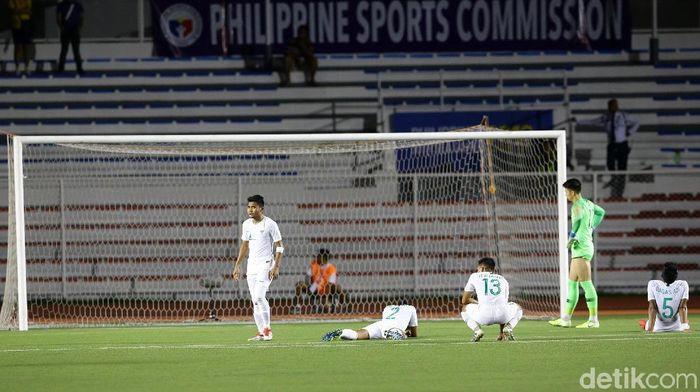 Timnas Indonesia U-22 kalah dari Timnas Vietnam U-22 di matchday ketiga sepakbola SEA Games 2019. (Foto: Grandyos Zafna/detikSport)