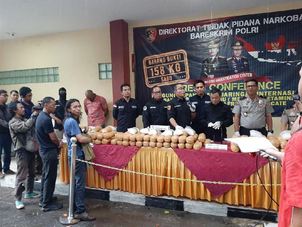 Polisi Sita 158 Kg Sabu Milik Napi Lapas Tangerang, 1 Orang Ditembak Mati