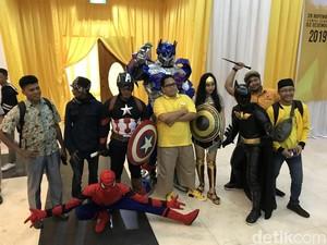 Kembalikan Formulir Caketum, Kader Golkar Ini Ajak Spiderman-Batman