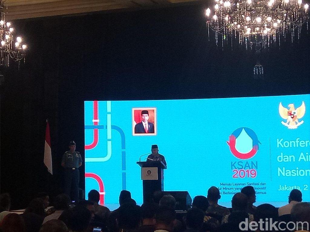 Soroti Pengelolaan Air Minum, Maruf Amin: Tarif PDAM Kadang Politis