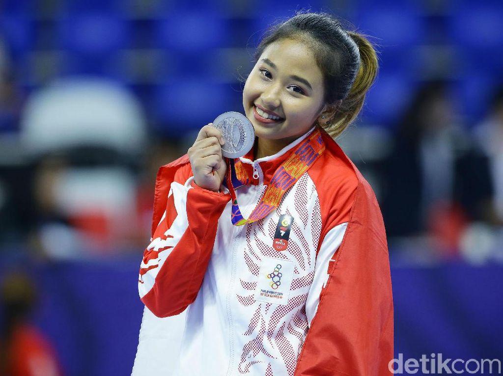 Senyum Rifda Usai Persembahkan Perak untuk Indonesia