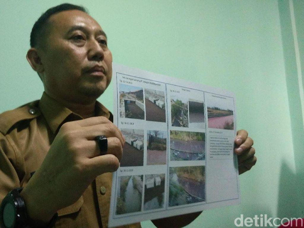 Sungai Ciberes Cirebon Berwarna Pink, DLH Duga Ini Penyebabnya