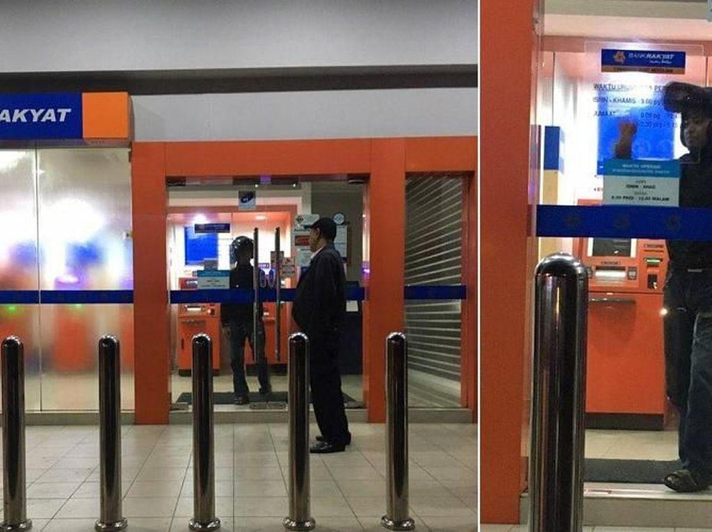 Kocak! Pria Ini Terkunci di ATM saat Ambil Duit