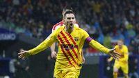 Rayakan Gol ke Gawang Atletico, Messi Dilempar Payung
