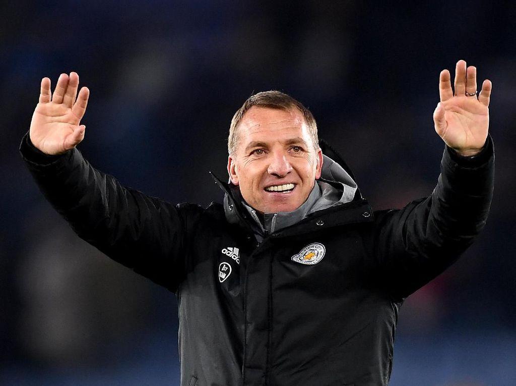 Dikaitkan dengan Arsenal, Rodgers: Saya Bahagia di Leicester