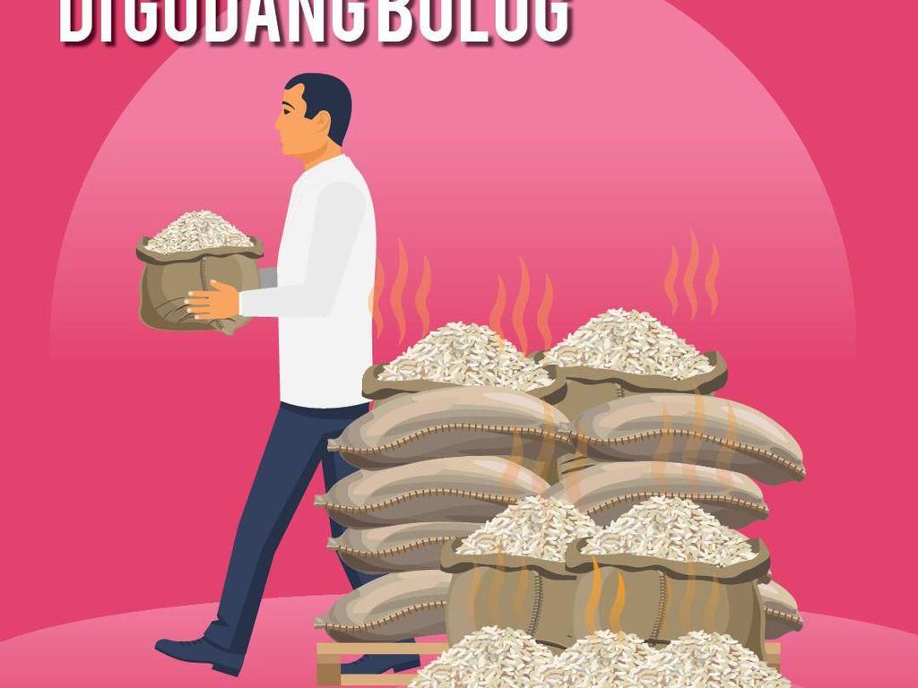 Gawat, 20.000 Ton Beras Bulog Hampir Busuk