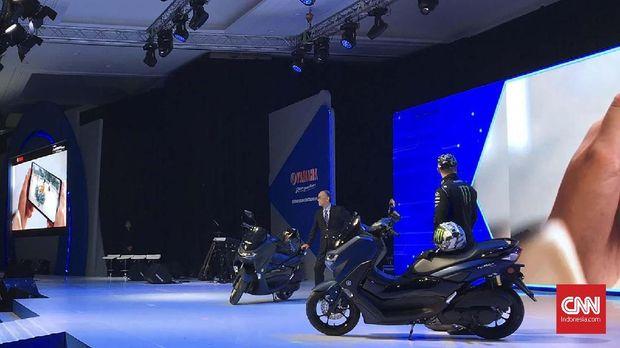 Yamaha Nmax baru diluncurkan di di Kemayoran, Jakarta Pusat Senin (2/12).