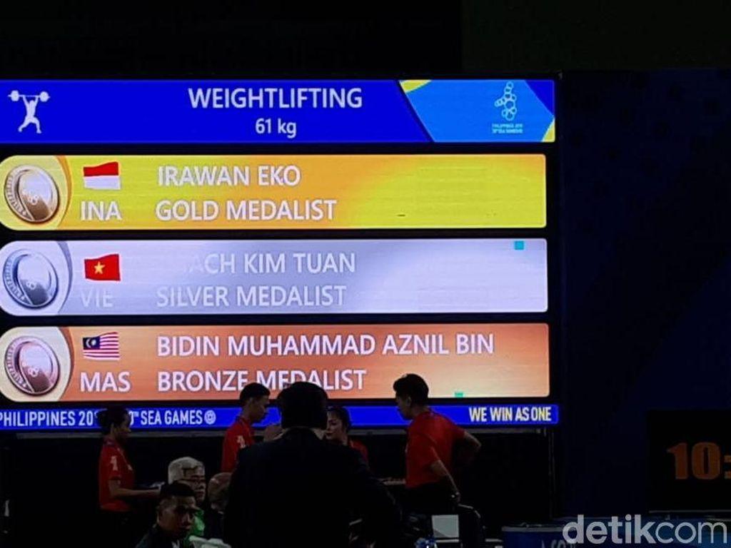 Eko Yuli Persembahkan Emas Keenam untuk Indonesia di SEA Games