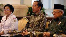 Megawati hingga Prabowo Kumpul Bareng Jokowi di Istana Negara