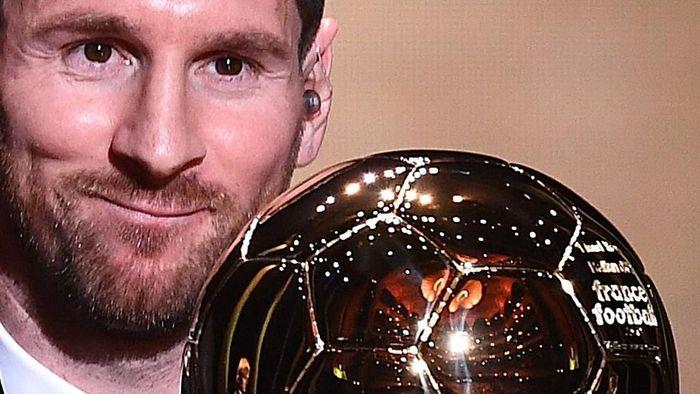 Lionel Messi memenangi Ballon dOr 2019 (FRANCK FIFE / AFP)